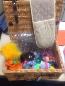 A basket of sensory items
