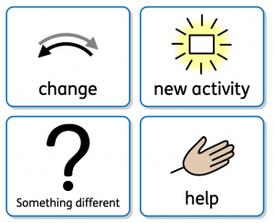 Different visual symbols that can be used for changes