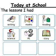 part of the worksheet for communicating with home from school