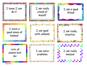 A set of 9 affirmation cards