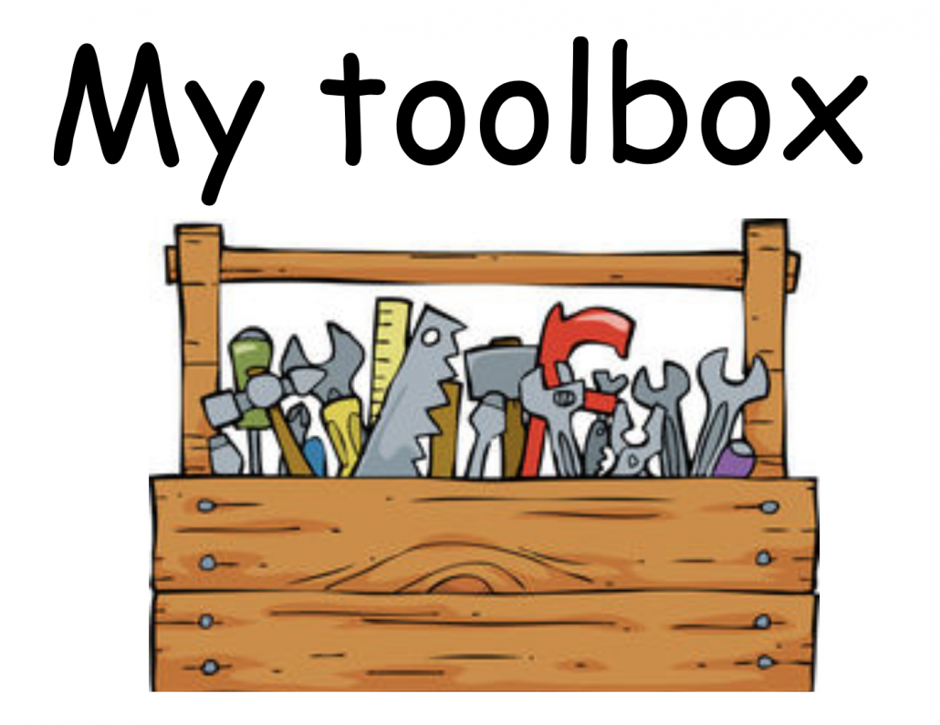 picture of a wooden toolbox filled with tools