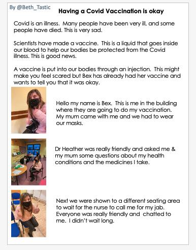 Social story of having a covid vaccine