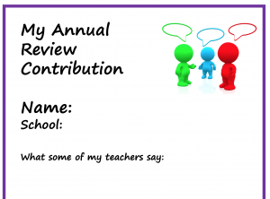 My annual review front page