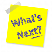 What's next? written on a post it note.